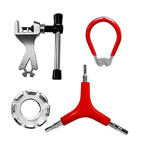 AnXiongStore Bicycle Spoke Wrench Wire Practical Set Adjusting Tool Spoke Tool 4-piece Set Wheel Set Wire Adjustment Tool