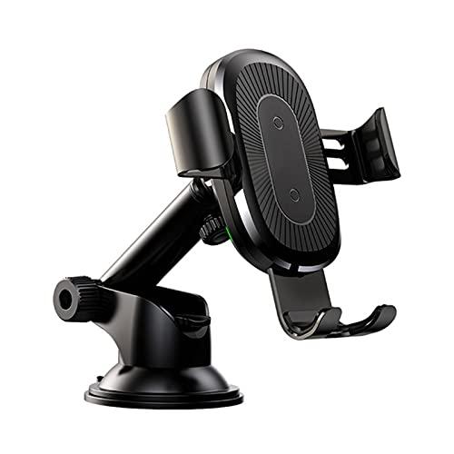 TLJF Soporte para Teléfono para Automóvil con Rotación De 360 ° Cargador Inalámbrico del Automóvil Gravedad