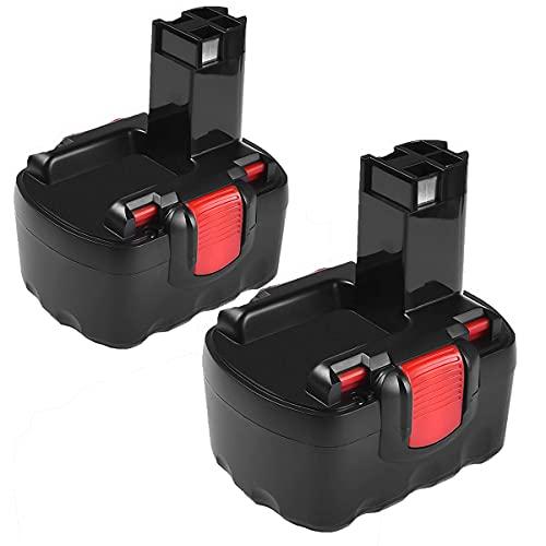 2X FUNMALL 14.4V 2000mAh NI-MH Batería Repuesto para Bosch 2607335275 2607335533 2607335534 2607335711 2607335465 2607335685 2607335678 2607335276 BAT038 BAT040 BAT041 BAT140 BAT159