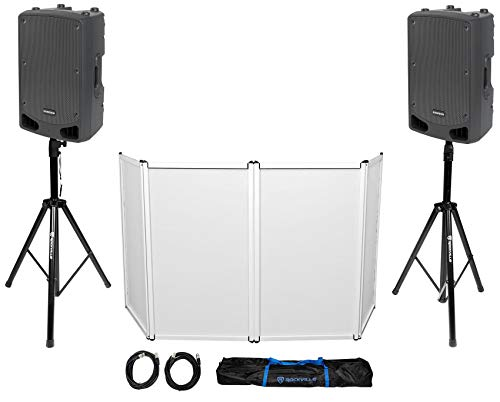 Check Out This Samson DJ Package w/ (2) 15 RL115A Powered Speakers+Stands+Facade+Cables+Bag