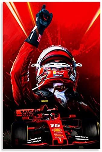 Rompecabezas Adultos Niños Puzzle 500 Piezas Charles Leclerc, piloto de carreras campeón del mundo de F1 500 Piece 20.4x15inch(52x38cm) Sin Marco