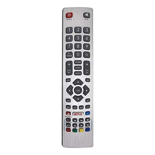 MYHGRC SHW/RMC/0115 Fernbedienung für Sharp Aquos Fernbedienung Smart UHD 4K 3D LCD LED Freeview TV LC-40UI7352E LC-43CFG6002E LC-49CFG6001K LC-50UI7422E LC-40UI7552K LC-43FG5242E