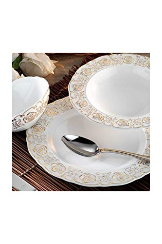 Aryıldız Royal Queen Rosemarry Porcelana 83 piezas 12 hombre juego de cena (60005)