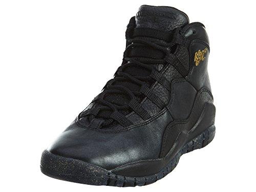 Nike Nike Herren Basketballschuhe, Schwarz Grau Gold (Black Black Drk Grey Mtllc Gld), 37.5 EU