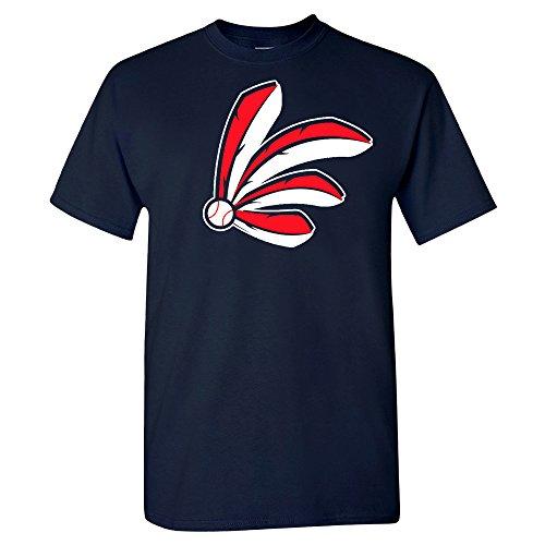 Xtreme Apparrel Cleveland Baseball Feathers Shirt (3XL) Navy