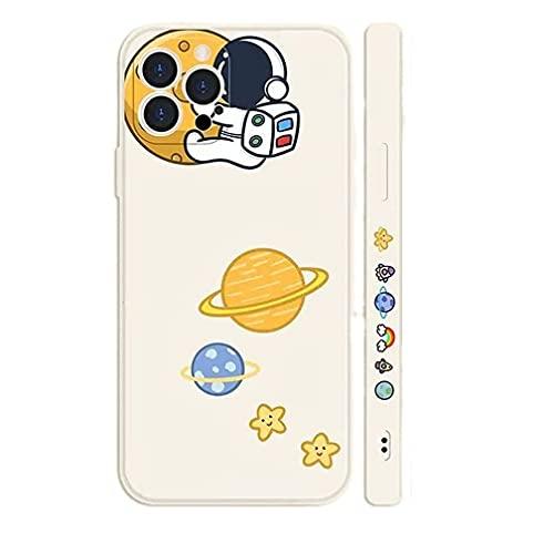 Svnaokr Carcasa de gel de sílice para iPhone, astronauta fina, protección militar, silicona flexible, resistente a los arañazos (estilo 1, para iPhone 6/6S)