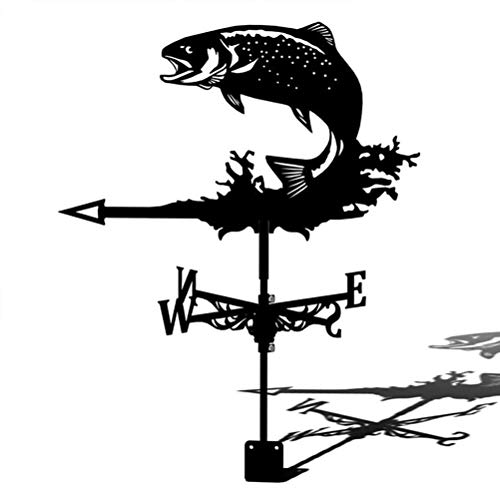 Katyma Stainless Steel Weather Vane Garden Plug Durable Retro Farm Scene Garden Pole Professional Measuring Tools Ornament For Roof Shack Yard Indicating Wind Direction