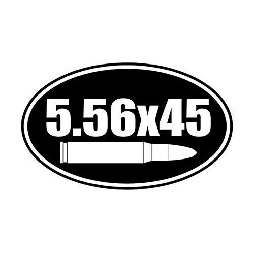 15cm * 9cm personalisierte Mode 5.56x45 Bullet Gun Vinyl Aufkleber C5-1178