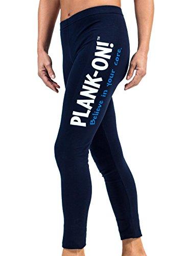Plankon LRY5K, Damen Leggings, lang, Blau, L