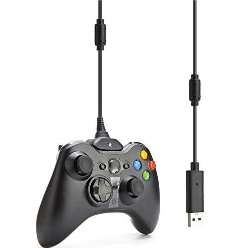 Luani Xbox 360ワイヤレスコントローラー用USB充電器プレイおよび充電ケーブルコード充電ケーブル充電ライン