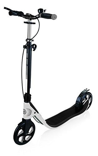 GLOBBER グロッバー キックボード 大人用 ハンドブレーキ付き 持ち運び便利 折り畳み式 家族で遊ぶ キック スクーター ワンNL205デラックス ホワイト/ダークグレー WLGB478106