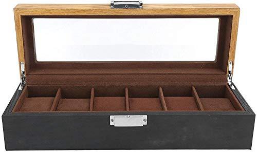 AKwwmy Boîte de Surveillance, Boîte de Montre Organiseur Affichage Affichage Support de Montre, Stockage de Bijoux pour Regarder Boucles d