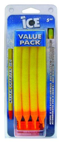 Rod-N-Bobbs MR5YC Mr Ice Bobber (12-Pack), 5-Inch, Yellow