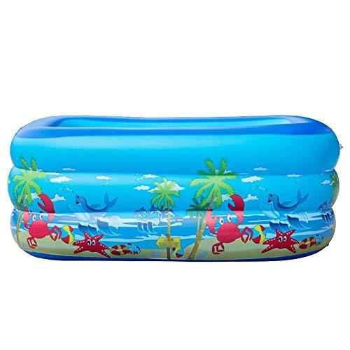YXYOL Familia portátil Inflable de la Piscina, Plegable Rectangular sobre el Suelo Piscina, Juego de niños Piscina para niños Bañera Lavabo Juguete