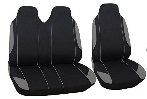 Carseatcover-UK/® Coprisedili Imbottiti in Pelle per Auto Protezione airbag sicura per sedili Anteriori