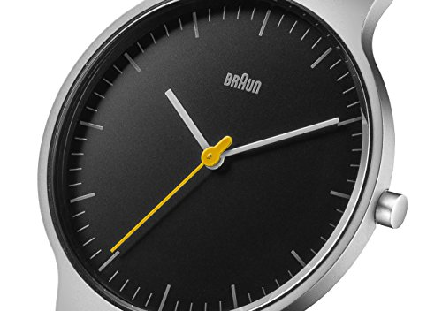 Braun Men's BN0211BKSLMHG Classic Slim Analog Display Japanese Quartz Silver Watch