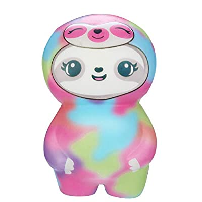 Clearance Sale!DEESEE(TM)????????Adorable Squishies Soft Sloth Slow Rising Fruit Scented Stress Relief Toys Gifts