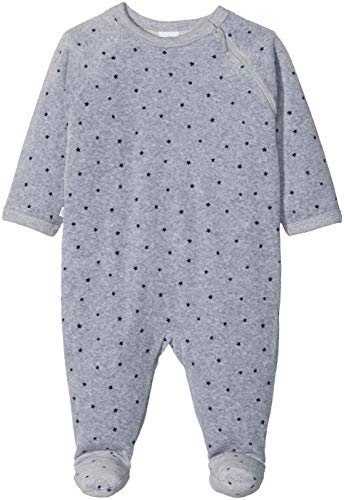 Sanetta Baby-Jungen Overall Schlafstrampler, Grau (Grey Mel. 1737.0), 68