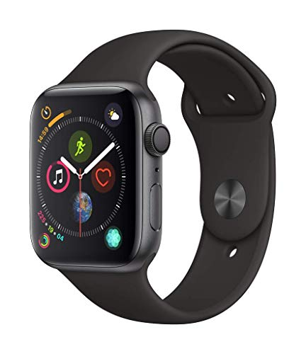 Apple Watch Series 4 (GPS, 44mm) - Space Gray Aluminum Case with Black Sport Band
