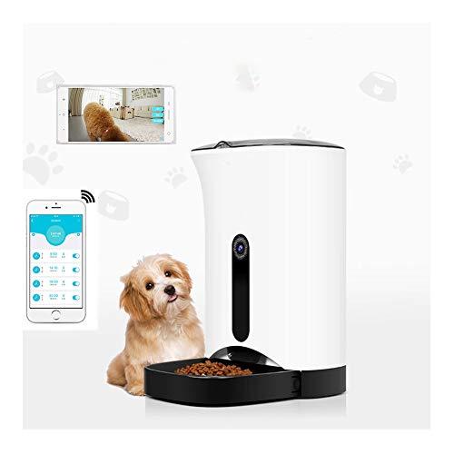 Automatische Voerautomaat, Voerautomaat Voor Kattenhonden, W/Wifi-App Voor Ios Android - Programmeerbare Timer, Bediening Van Maaltijdgedeelte, Live Webcam Video Foto Spraakopname