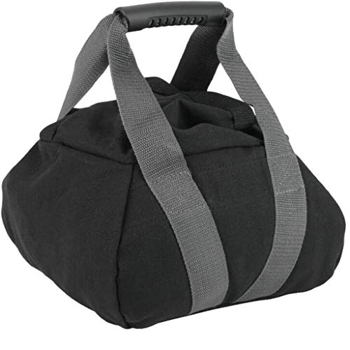ErYao Kettlebell Sandbag - Adjustable Canvas-Kettlebell-Sandbag wtih Handle for Training Home Training, Yoga, Fitness (Black)