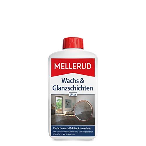 MELLERUD Wachs & Glanzschichten Löser – Effiziente Reinigung zur Vorbereitung neuer Glanz- und Pflegeschichten für säureempfindliche Untergründe – 1 x 1 l