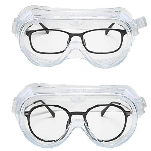 Gafas de protección de seguridad sobre gafas?Antiniebla sobre especificaciones laborales gafas para construcción, laboratorio, química, uso personal o profesional (cinta blanca)
