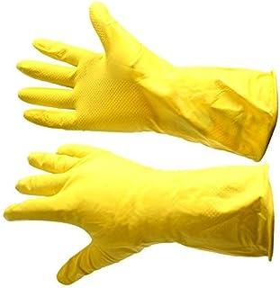 Guantes de trabajo de goma amarillos, forro flocado, gran