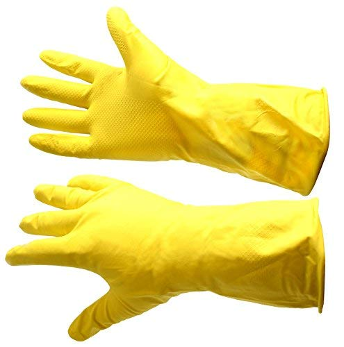 Guantes de trabajo de goma amarillos