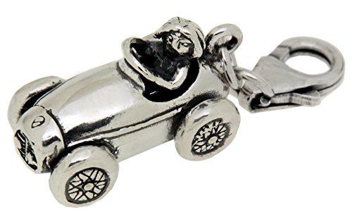 Charm-Anhänger Seifenkiste aus 925 Sterling Silber zum Einhängen in ein Bettelarmband