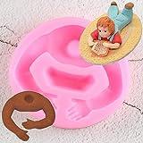 TAOYUE 3D Baby BodyStampo Fatto AManoStrumenti per Decorare Torte al Cioccolato Biscotti Fai-da-Te Stampo InSilicone perFondente Stampo inSilicone