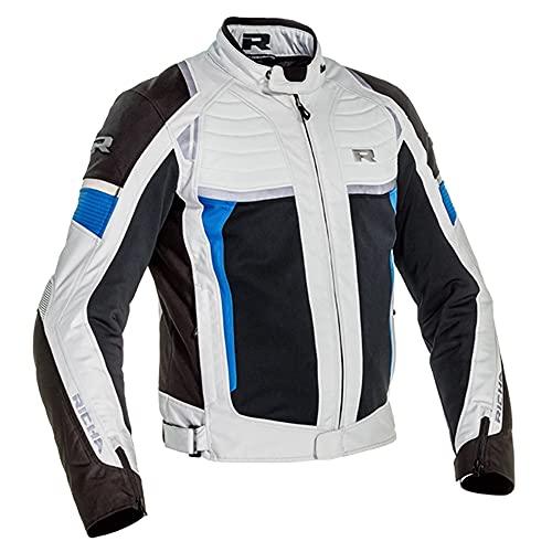 Richa Motorradjacke mit Protektoren Motorrad Jacke Airstream-X Textiljacke blau L, Herren, Tourer, Ganzjährig