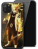 Naruto - Funda para iPhone 7 Plus/iPhone 8 Plus/iPhone 11 Japonés Anime Tema Bumper Case Silicona Suave TPU Vidrio Templado Protección Cubierta Trasera