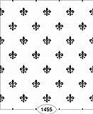 Dollhouse Wallpaper Princess Fleur de Lis Black on White