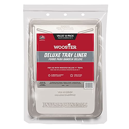 Wooster Brush BR496-11 Deluxe Tray Liner, 12-Pack, 11-Inch, Clear