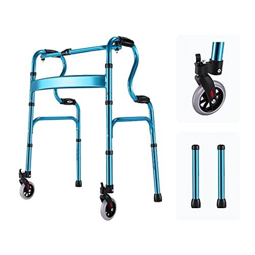 Mejor Andador para Ancianos,Andador de 4 Ruedas,Andador de bipedestación,Aleación de Aluminio de Calidad de Lujo Ayudantes para Caminar,Andador Mayores andadores Condominio