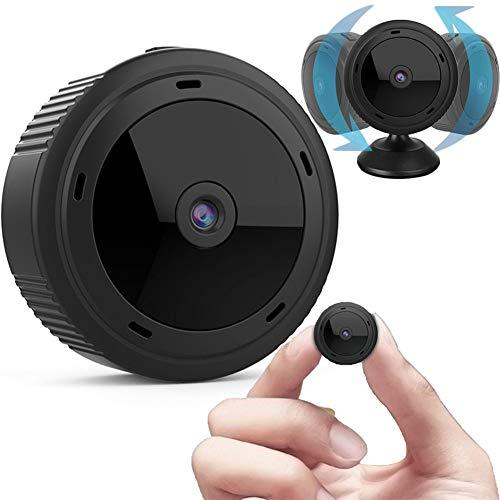 DSMGLRBGZ Vigilabebés, Vigilabebes con Camara Camara Bebes Vigilancia Mini 1080P WiFi Cámara Interior Remota para Ve A La Cama Seguridad