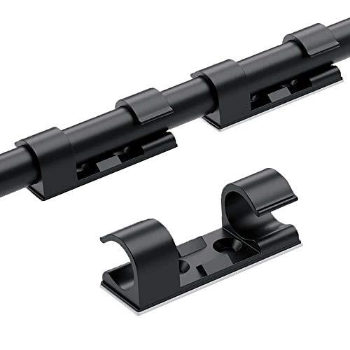 50 팩 접착제 CABLE CLIPS 케이블 이끌 코드 홀더 내구성 강한 케이블 관리에 대한 자동차 사무실과 가정(블랙)
