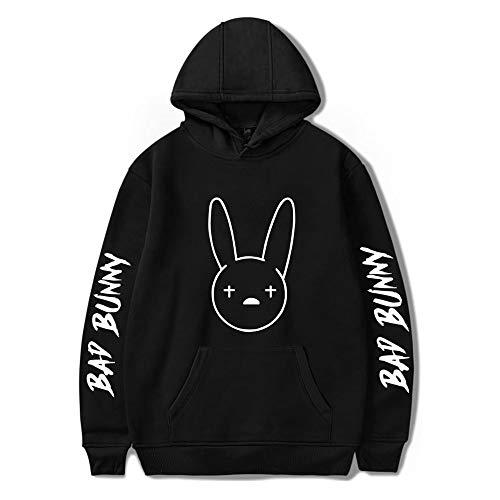 WAWNI 2020 R I P Bad Bunny Impresión 2D HOODIS Sudadera de Manga Larga Mujeres/Hombres Ropa Casual Kpop Plus Tamaño 4XL Mujer Fans Ropa