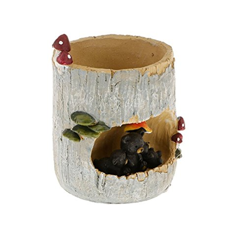 OUNONA Maceta para suculentas con diseño de oso negro