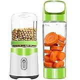Gesh Mixeur personnel, mixeur portable USB rechargeable pour milk-shakes et smoothies, six lames puissantes pour un superbe mélange de fruits glacés (vert)