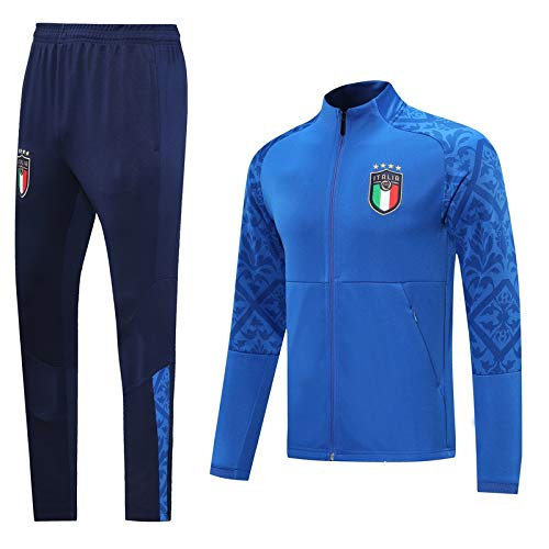 PARTAS Langarmtrikot Italien Fußball-Trainingsanzug Erwachsene Sportanzug Offizielle Fußball-Geschenk Jacke und Hose (Size : M)
