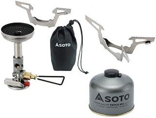 SOTO 3点セット マイクロレギュレーターストーブウインドマスター パワーガス250トリプルミックス ゴトク ソト SOD-310 SOD-725T SOD-461