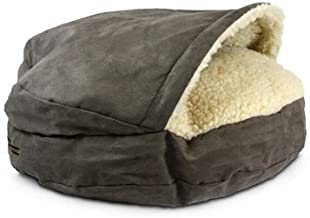 Snoozer Pet Products – Luxury Cozy Cave Dog Bed with Microsuede | Large - Dark Chocolate