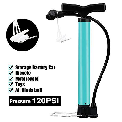 sgfd Bomba de Aire de Piso de Bicicleta de 120 PSI Bomba de Bicicleta de Acero Ultraligera MTB Bomba de Ciclismo portátil Tipo de Bomba de Bicicleta Basketabll