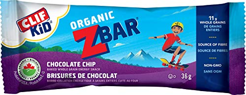 CLIF KID ZBAR - Organic Energy Bars - Chocolate Chip - (36 Gram Snack Bars, 5 Count)