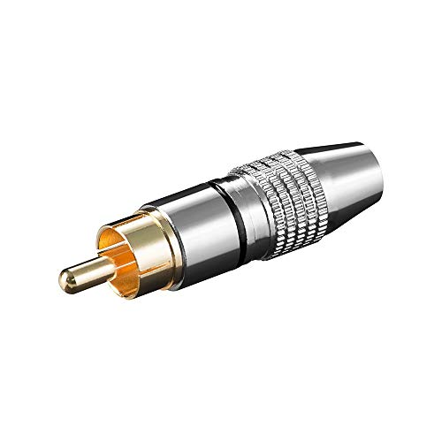 Goobay Csg 6.5Hq B RCA m Stainless Steel Wire Connector–Wire Connectors (Stainless Steel)