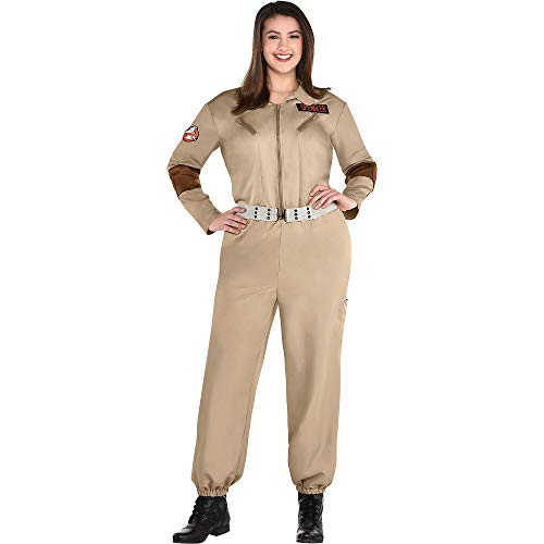Plus Size Classic 80s Ghostbusters Costume for Women with Badges