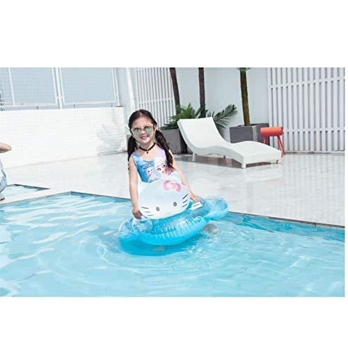 Baby Schwimmring Katze Schwein Bär Aufblasbarer Kreis Pool Party Spielzeug Kinder Baby Schwimmsitz Schwimmbad für Kinder blaue Katze 80x70cm
