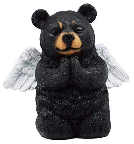 Figurine Collectibles Praying Angel Bear 5' H Kneeling Teddy Black Bear